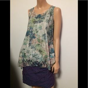 Gorgeous lightly lined soft blue floral L